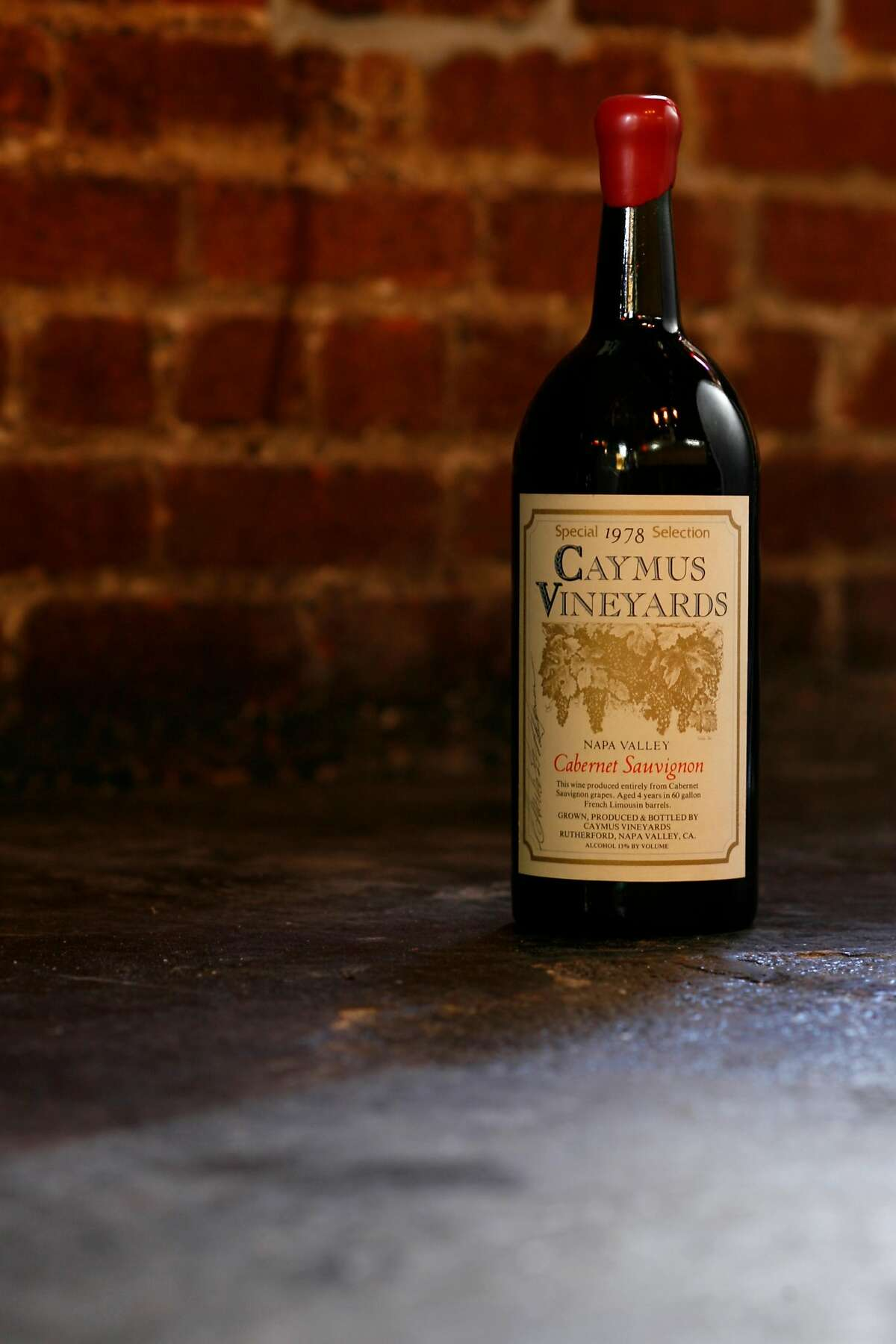 CaymusVineyards' CabernetSauvignon, pictured here in its 1978 vintage, is one ofNapaValley's most recognizable wines. Craig Lee / The Chronicle