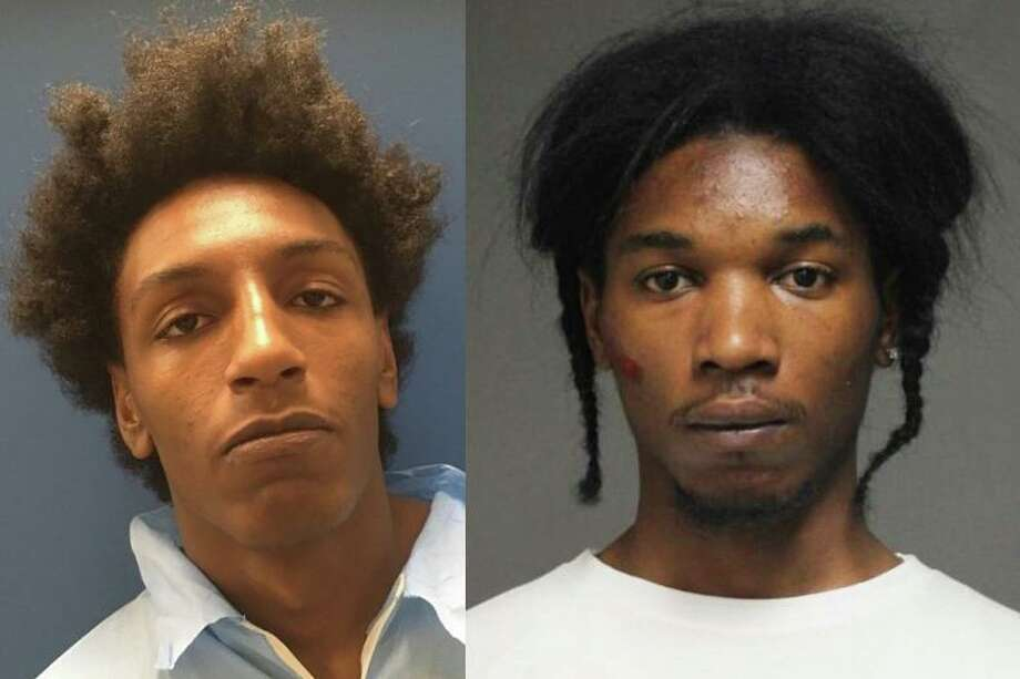 """The two suspects that remain at large were identified by police as Khalil Rasheem Abdul-Hakeem, 21, of Lakeview Avenue in Bridgeport, also known as """"Kirby;"""" and Leequaje Adrian Jihad Jackson Brown, 22, of Rosewood Court in Naugatuck. The two are wanted for their alleged involvement in a home invasion at gunpoint in Naugatuck on May 25, 2020. Photo: Contributed Photo / Naugatuck Police Department /"""
