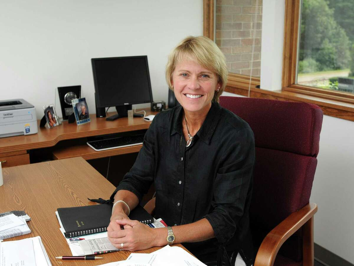 Cheshire--CIAC executive director Karissa Neihoff in the Cheshire headquarters. Peter Casolino/New Haven Register 9/02/11
