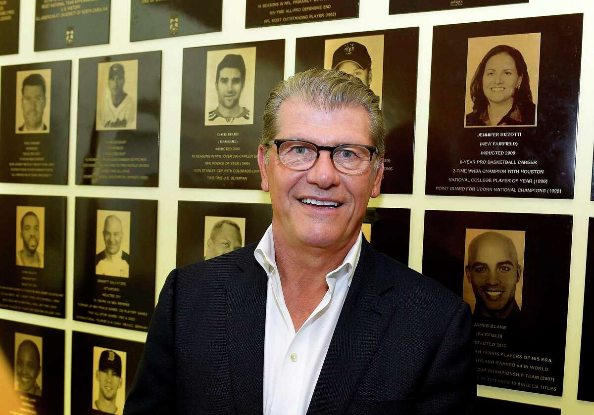UConn women's basketball coach Geno Auriemma is photogrpahed on June 7, 2018 in Stamford, Connecticut.