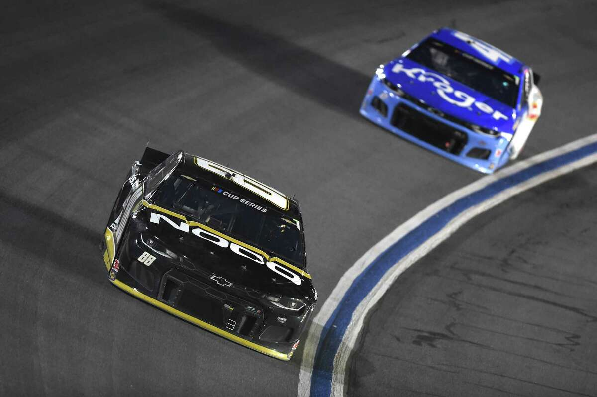 CONCORD, NORTH CAROLINA - MAY 28: Alex Bowman, driver of the #88 ChevyGoods.com/NOCO Chevrolet, drives during the NASCAR Cup Series Alsco Uniforms 500 at Charlotte Motor Speedway on May 28, 2020 in Concord, North Carolina. (Photo by Jared C. Tilton/Getty Images)