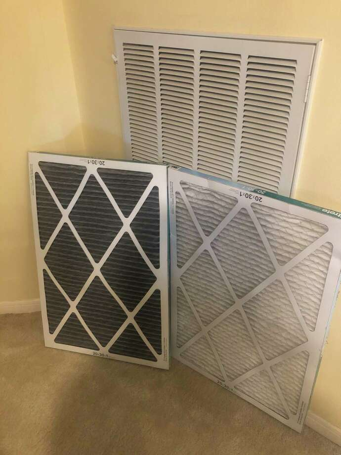 A Facebook acquaintance's post about her home air filters prompted me to look at my own-- then quickly get a new one in when I saw how dirty it was. The use of face masks and news about improved air quality outdoors should make us more mindful of what we breathe indoors. Photo: Diane Cowen