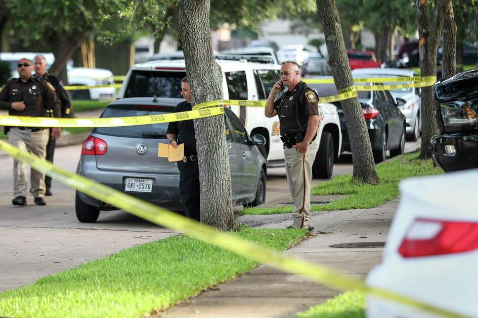 """Authorities investigate the scene where a Fort Bend County Deputy Sheriff fatally shot a Fort Bend County Precinct 4 Deputy Constable after mistaking him for an intruder as they cleared a house, Friday, May 29, 2020, in Missouri City. The deputy constable was flown to Memorial Hermann hospital, but he did not survive. """"We are heartbroken over this,"""" said Fort Bend County Sheriff Troy Nehls in a press release. """"We are praying for everyone involved and will have chaplains available for whoever needs them, regardless of what agency they're with."""""""