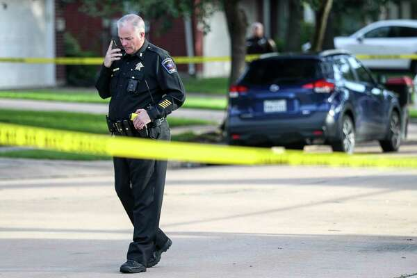 "Authorities investigate the scene where a Fort Bend County Deputy Sheriff fatally shot a Fort Bend County Precinct 4 Deputy Constable after mistaking him for an intruder as they cleared a house, Friday, May 29, 2020, in Missouri City. The deputy constable was flown to Memorial Hermann hospital, but he did not survive. ""We are heartbroken over this,"" said Fort Bend County Sheriff Troy Nehls in a press release. ""We are praying for everyone involved and will have chaplains available for whoever needs them, regardless of what agency they're with."""