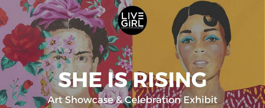 """One of the many attractions in New Canaan, the Carriage Barn Arts Center, recently designated special times for people to sign up for appointments to see the non-profit organization, LiveGirl's, new exhibit called, """"She Is Rising."""" The exhibit could then be seen virtually through Sunday, June 7. Appointments were available to see it on Wednesday, June 3, Thursday, June 4, Friday, June 5, and Saturday, June 6. It is still available for viewing on the Carriage Barn's website, https://carriagebarn.org/. It began virtually on Wednesday, May 27. Photo: Contributed Photo"""