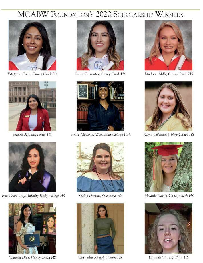 The Montgomery County Area Business Women organization recently awarded 12 scholarships to graduating seniors from across Montgomery County. Photo: Courtesy Photo