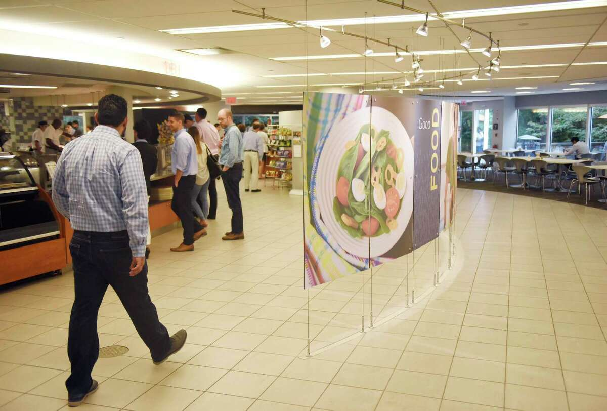 A file photo of Synchrony Financial's corporate cafeteria in Stamford, Conn.