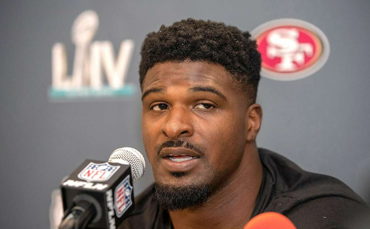 The status of 49ers' defensive end Dee Ford, a first-round pick of the Chiefs they acquired in a trade two years ago, is in limbo because of a serious back injury.
