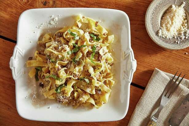 Gluten-Free Pappardelle With Mushrooms.