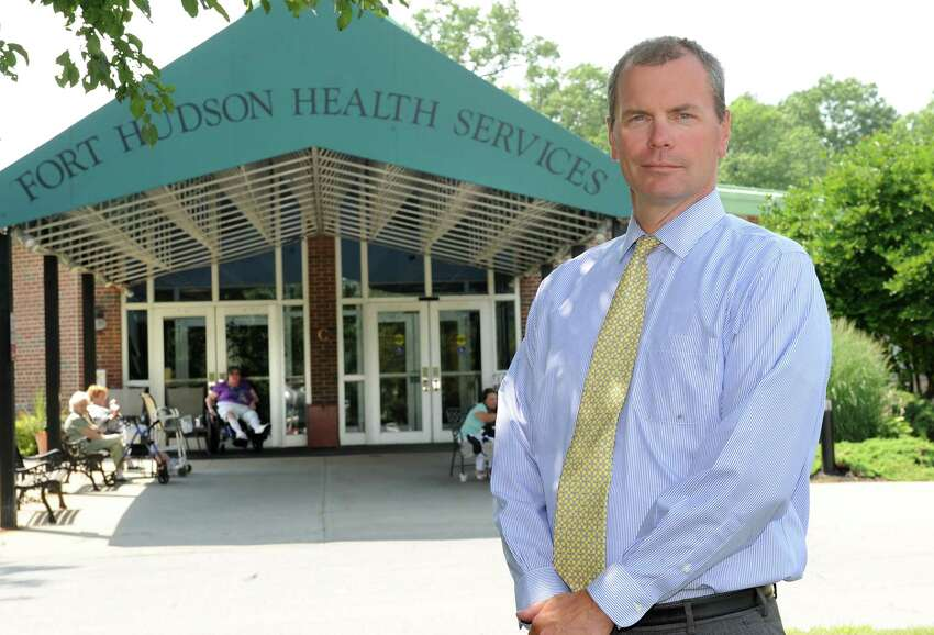 CEO Andy Cruikshank stands outside the Fort Hudson Nursing Home on Tuesday, July 22, 2014 in Fort Edward, N.Y. (Lori Van Buren / Times Union)