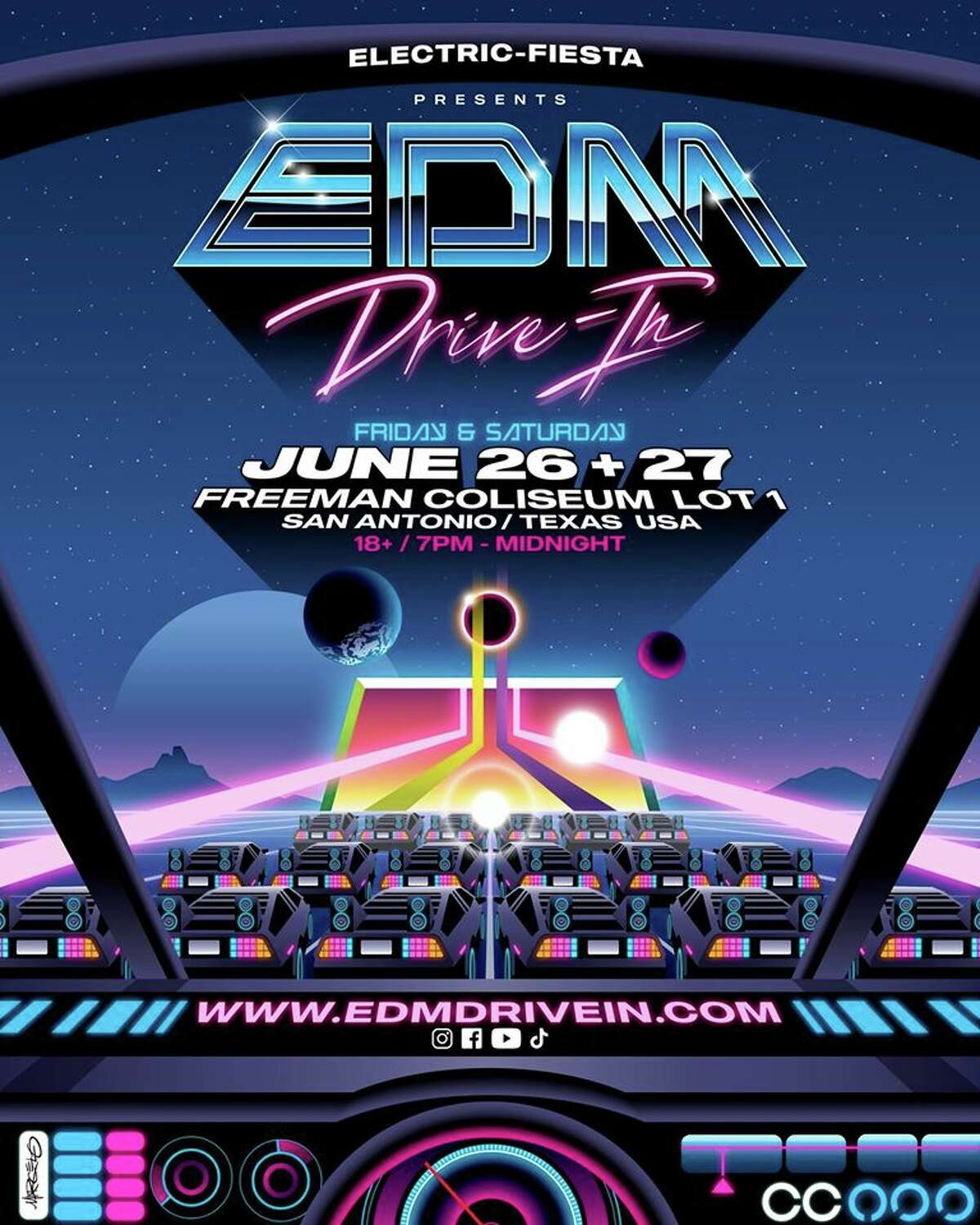 For those having in-person rave withdrawals, there will be an EDM (electric dance music) drive-in in June.