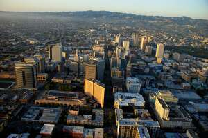 An aerial view of Oakland Calfornia.