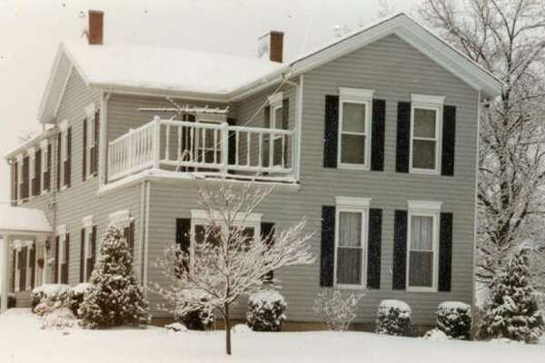 An undated view of the Carl and Doris Gause home on Troy Road.