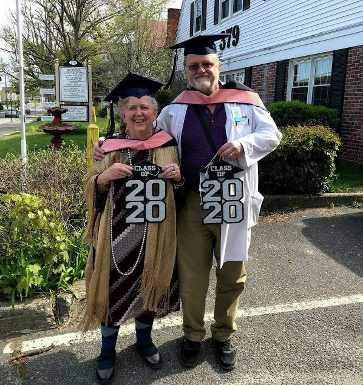 Torrington optometrist Dr. Matthew Blondin and Torrington attorney Audrey Blondin recently completed their studies at the University of Connecticut Health Center in Farmington and received their Master of Public Health degrees during virtual commencement activities held in Storrs May 11. Both received certificates in public health in 2009, and resumed their studies in 2015. Audrey Blondin was also the recipient of the UCONN 2020 Susan S. Addiss Award in Applied Public health Practice. This award recognizes the graduating M.P.H. student who best exemplifies the qualities of Susan Addiss: public health advocacy, leadership, demonstrated commitment to the community and academic performance.