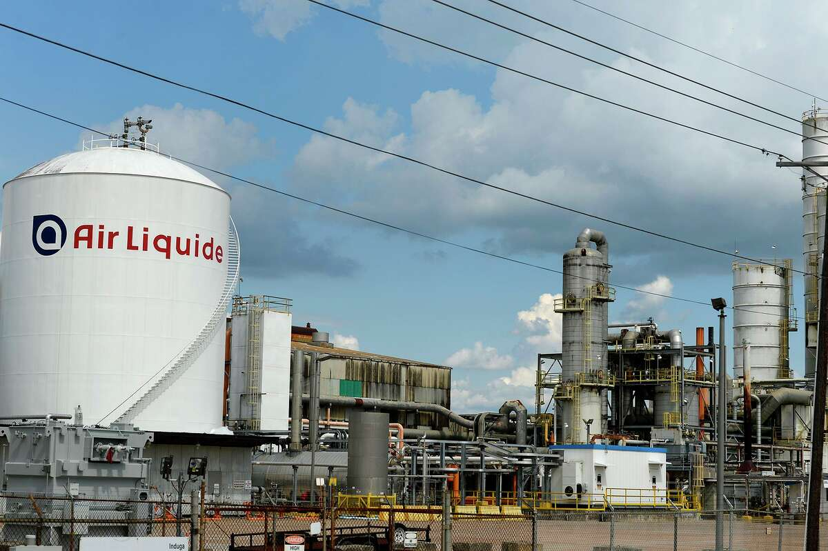 Air Liquide's air separation unit on Twin City Highway in Beaumont. Air Liquide requested a state exemption for chemical leak monitoring at its Freeport facility due to staffing problems with contractors during the pandemic.