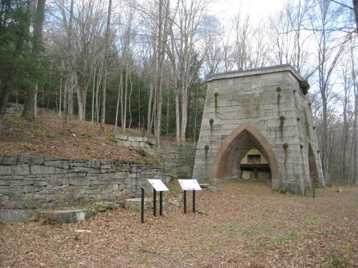 The blast furnace at the Mine Hill site.