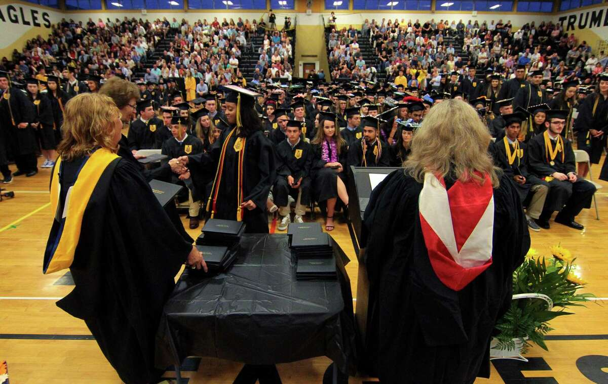 Trumbull High School's Commencement Exercises in Trumbull, Conn., on Tuesday June 18, 2019.