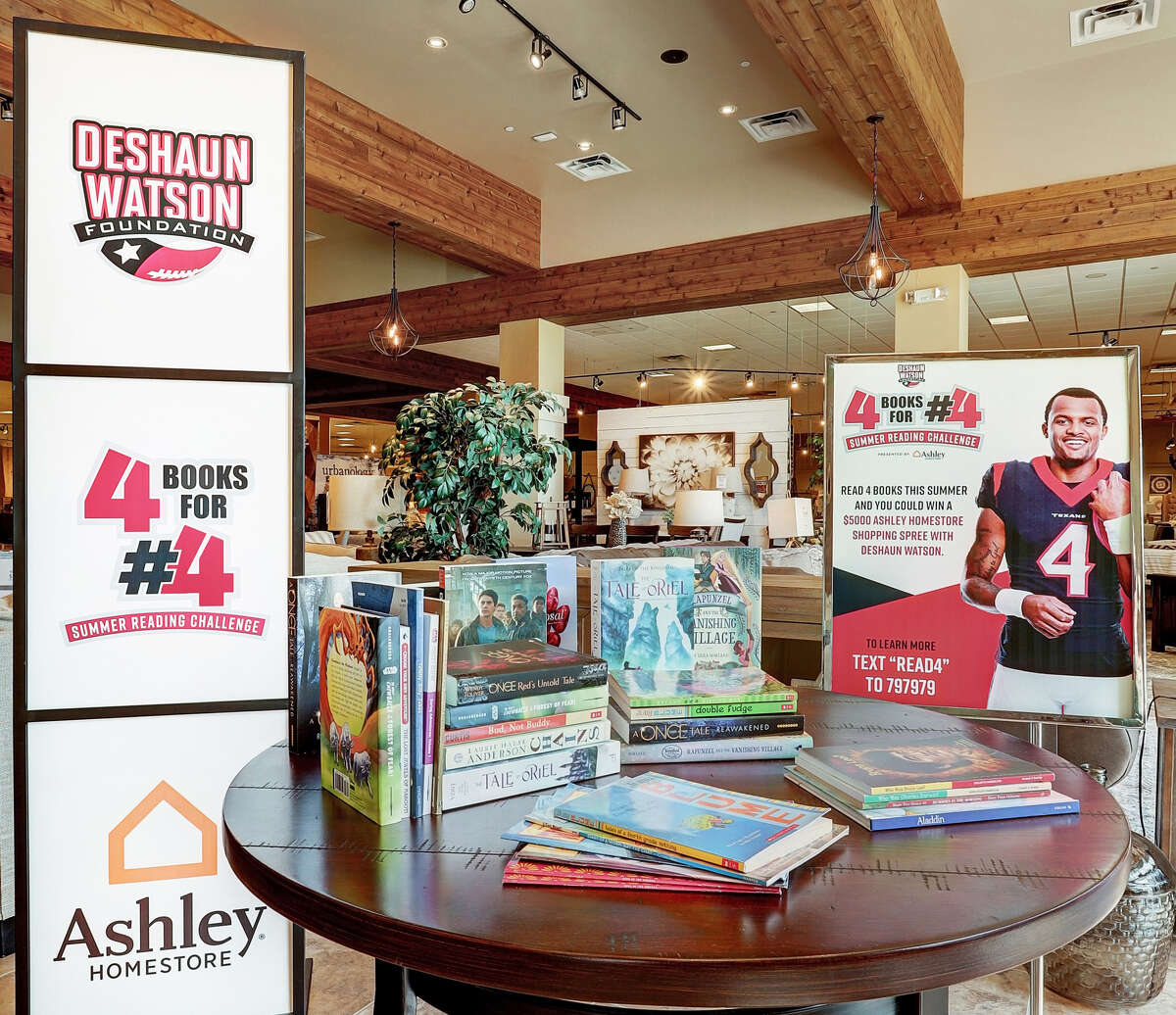 """Texans quarterback Deshaun Watson has launched a summer reading program in partnership with Ashley HomeStore called the """"4 Books for #4 Summer Reading Challenge."""""""