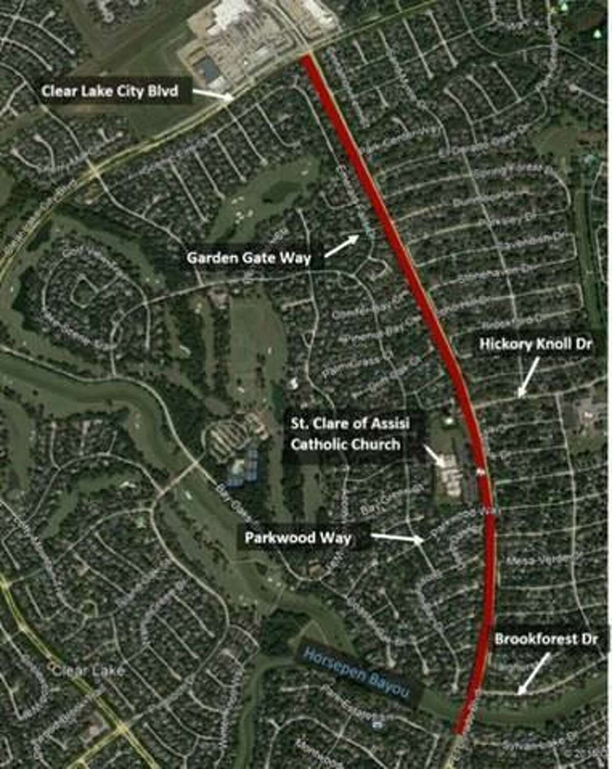 The project will widen El Dorado Boulevard from two to four lanes from Horsepen Bayou to Clear Lake City Boulevard.