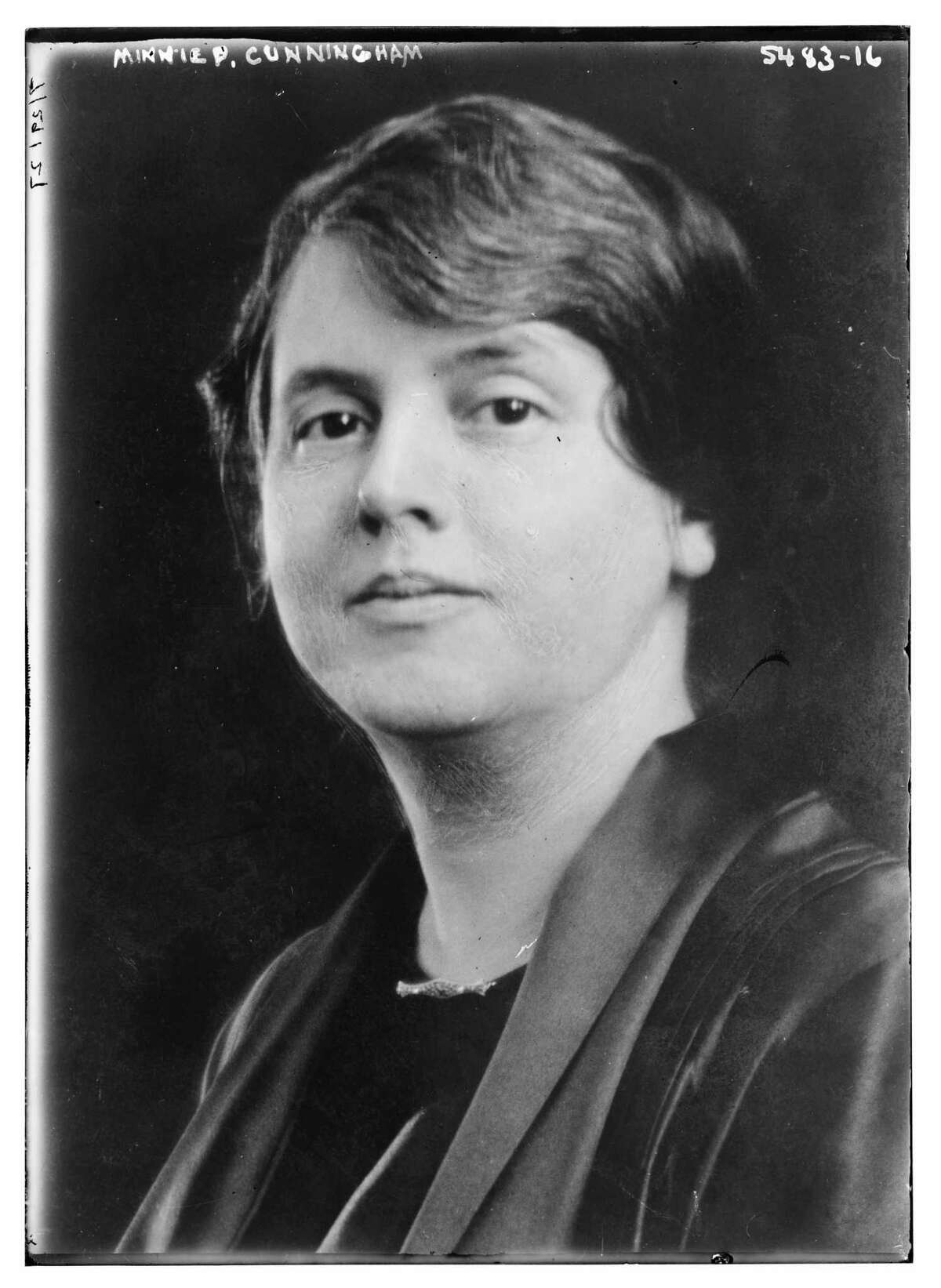 Minnie Fisher Cunningham, executive secretary of the League of Women Voters.