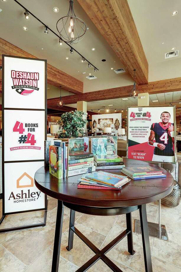 Houston Texans quarterback Deshaun Watson is partnering with Ashley HomeStore to encourage children to read four books this summer for the chance to meet the star quarterback and win a $5,000 Ashley HomeStore room makeover for their families.