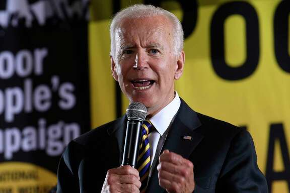 Former Vice President Joe Biden speaks back in 2019. A reader says Biden might not be the perfect presidential candidate for Latinos, but he is far superior to Trump and alligns with many Latino voters on issues.
