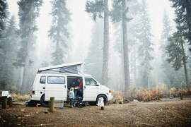 "RV campers can go ""boondocking"" in Class B camper vans, which means they overnight in remote spots relying on the vehicle's systems."