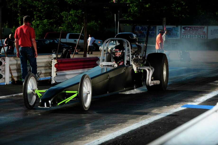 16-year-old drag racing standout, Patrick Boris, took the early season points lead with his dragster.  No stranger to success, the East Jordan racer finished as junior dragster track champion in 2017 and 2018 before moving up into the big dragster. (Courtesy photo) / Chris Simmons Photography