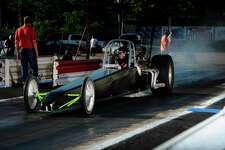 16-year-old drag racing standout, Patrick Boris, took the early season points lead with his dragster.  No stranger to success, the East Jordan racer finished as junior dragster track champion in 2017 and 2018 before moving up into the big dragster. (Courtesy photo)
