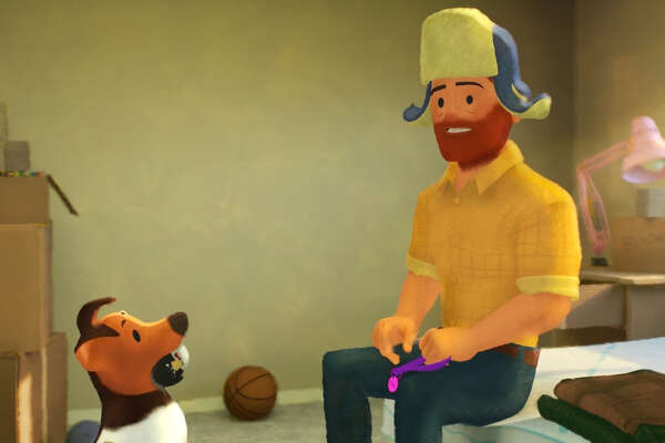 """A scene from the Pixar short """"Out."""""""