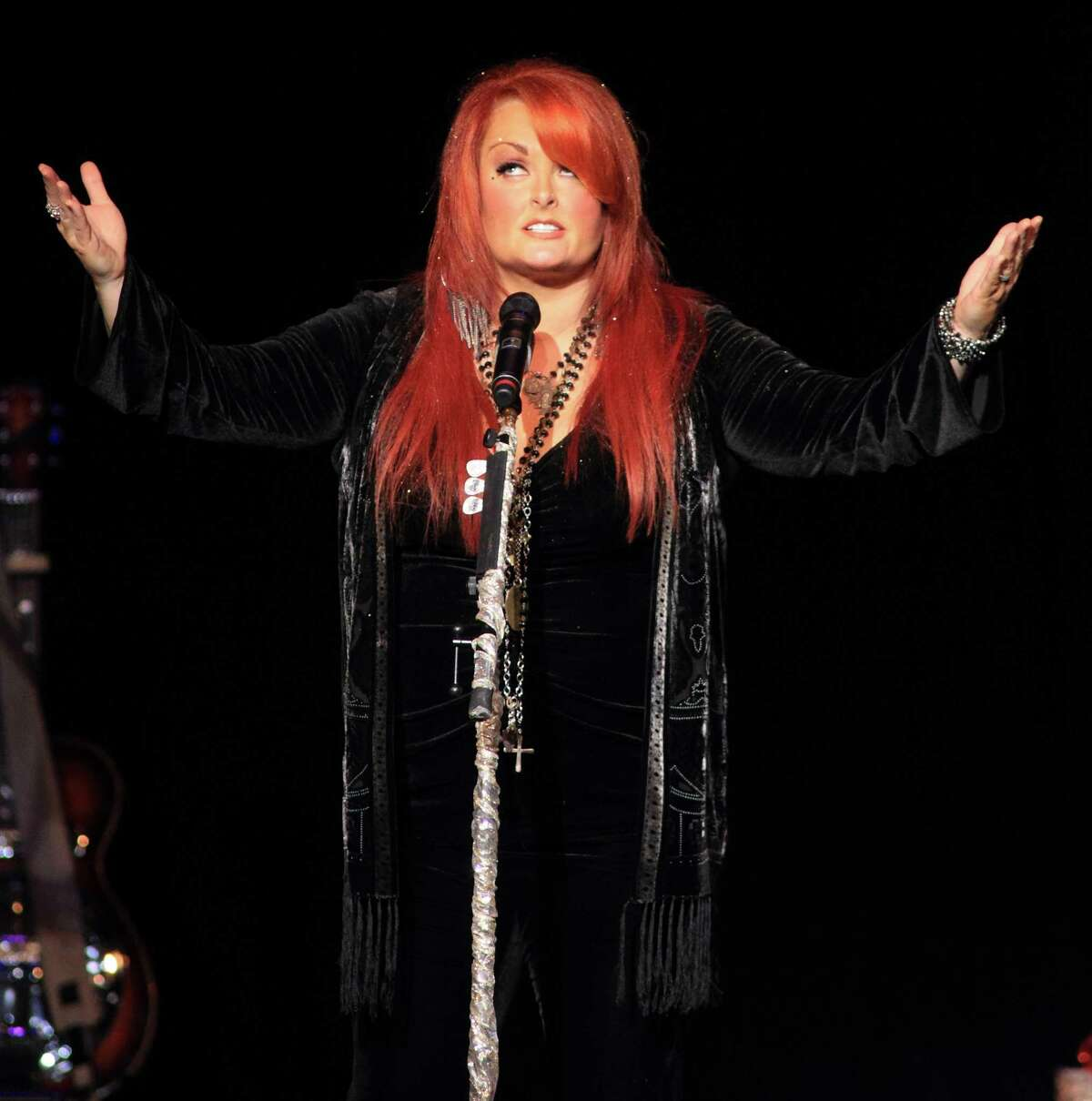Country music artist Wynonna Judd performs in concert during her