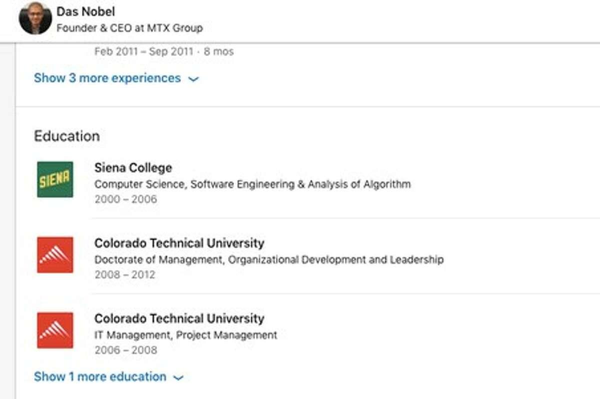 Screenshot of Das Nobel's LinkedIn page.