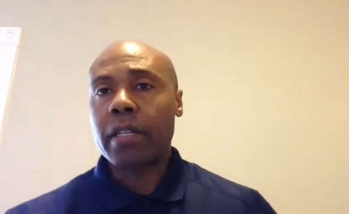 Albany Police Chief Eric Hawkins speaking to reporters via a Zoom conference call on Friday afternoon about the death of George Floyd in Minneapolis. Hawkins described the incident as
