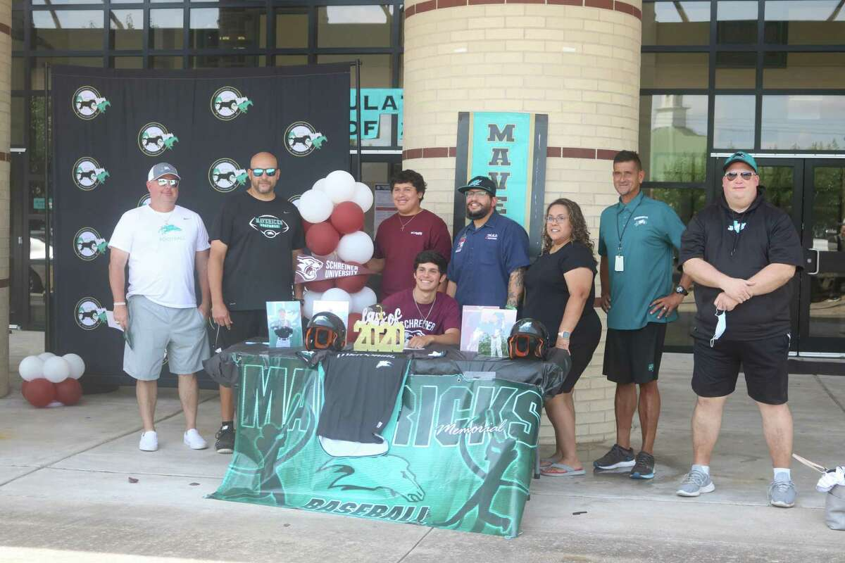 Memorial's Tyler Juarez will be packing his glove and bat for Schreiner University, following his formal signing Friday. Juarez tallied the state's 24th best batting average during this year's shortened campaign.