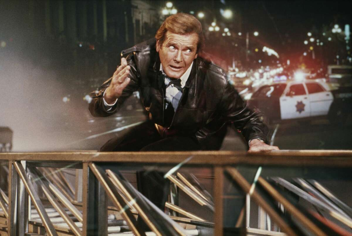 Roger Moore was nearly 60 when he made his last Bond movie. That's too old to be scaling the Golden Gate Bridge, so the director used a much younger stunt double in a bad wig - and that's the least of the film's problems.007's adventure in California is somehow both very slow and very confusing. Christopher Walken, as evil geneticist Max Zorin, hatches a very baffling, dastardly plan that involves blowing up the Hayward Fault to flood Silicon Valley and stifle the production of microchips? No one told the screenwriter that silicon is not actually mined in Silicon Valley.Letting James Bond loose in San Francisco should have been fun, so it's a real shame that the movie spends an interminable amount of time watching Roger Moore try to buy a horse. And seeing an out-of-shape 58-year-old get it on with 30-year-old Bond girl Tanya Roberts is ... not good.The movie is slightly redeemed by Grace Jones parachuting off the Eiffel Tower, and Duran Duran's theme song slaps. Best worst moment: An old man, an airship and some bad wigs on the bridge.