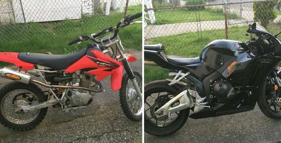 Recently seized evidence by the Bridgeport, Conn., Police Department's detail that is cracking down on ATVs being driven recklessly on city streets. Photo: Contributed Photo / Office Of The Mayor Of Bridgeport