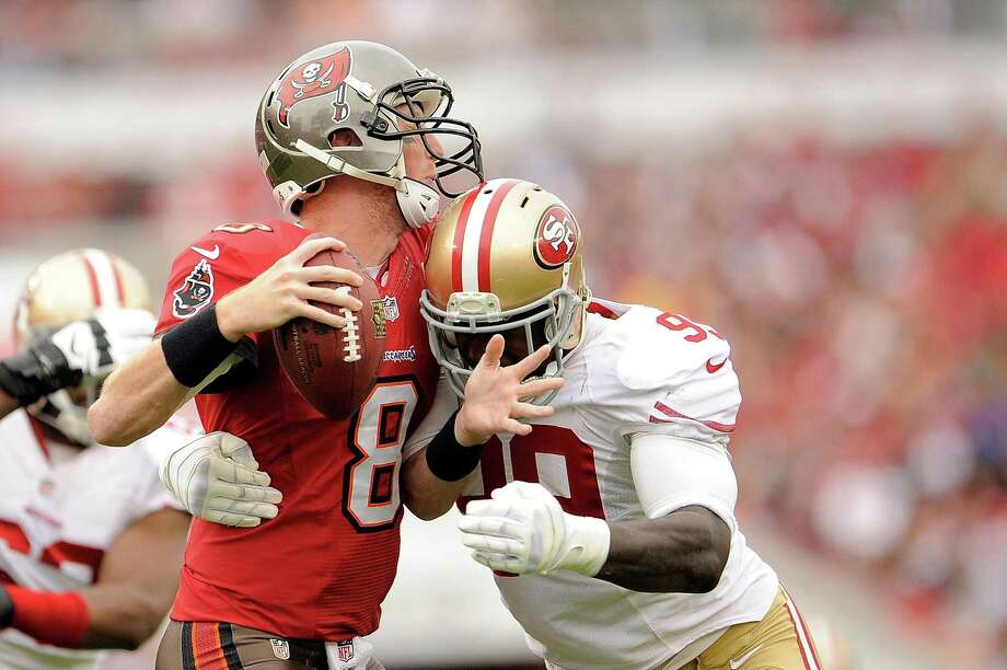 Aldon Smith had 42 sacks in his first three years with the 49ers from 2011-13, setting a record with 33½ in the first two years. Photo: Stacy Revere / Getty Images / 2013 Getty Images