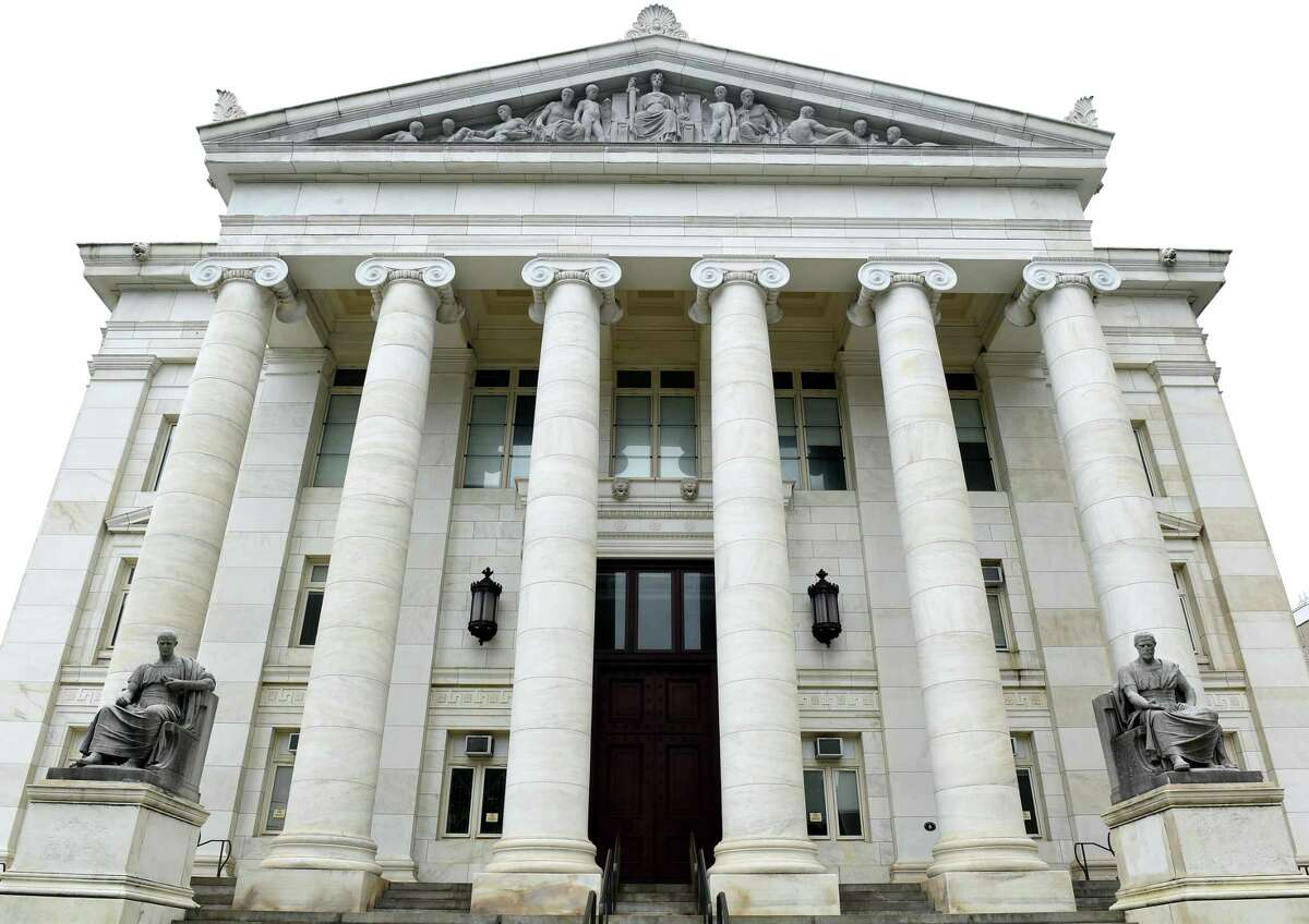 New Haven Superior Court on the corner of Elm and Church Street in New Haven in 2020. Masks will cover jurors faces, blocking their reactions and expressions during court proceedings Stamford criminal defense attorney Lindy Urso said,