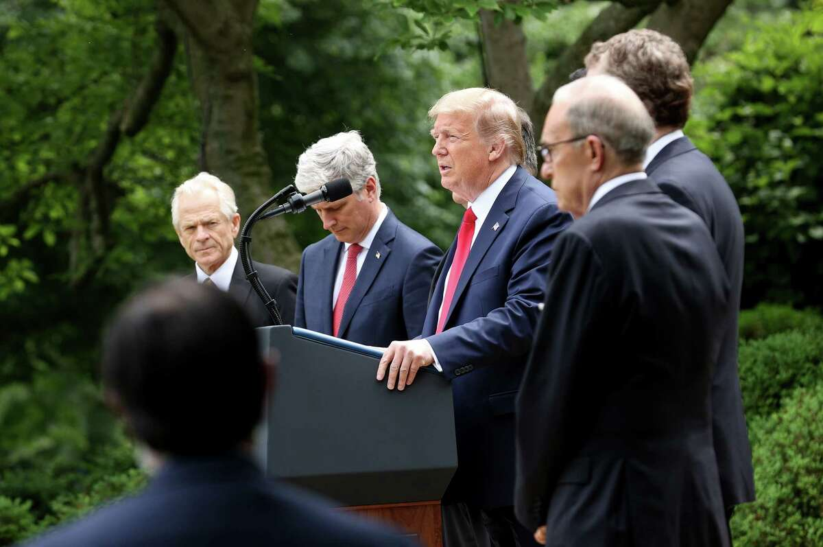 WASHINGTON, DC - MAY 29: U.S. President Donald Trump speaks about U.S. relations with China, at the White House May 29, 2020 in Washington, DC. President Trump did not take questions regarding the current situation in Minneapolis following the death of George Floyd and todays arrest of Derek Chauvin the former Minneapolis police officer who knelt on Floyds neck for an extended time causing him to die. (Photo by Win McNamee/Getty Images)
