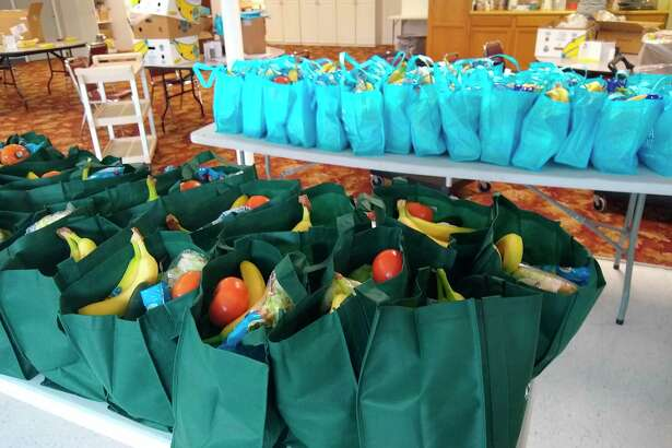 Fresh produce bagged up ready for Friday's Traveling Produce Bank in Wellston and Kaleva. (Courtesy Photo)