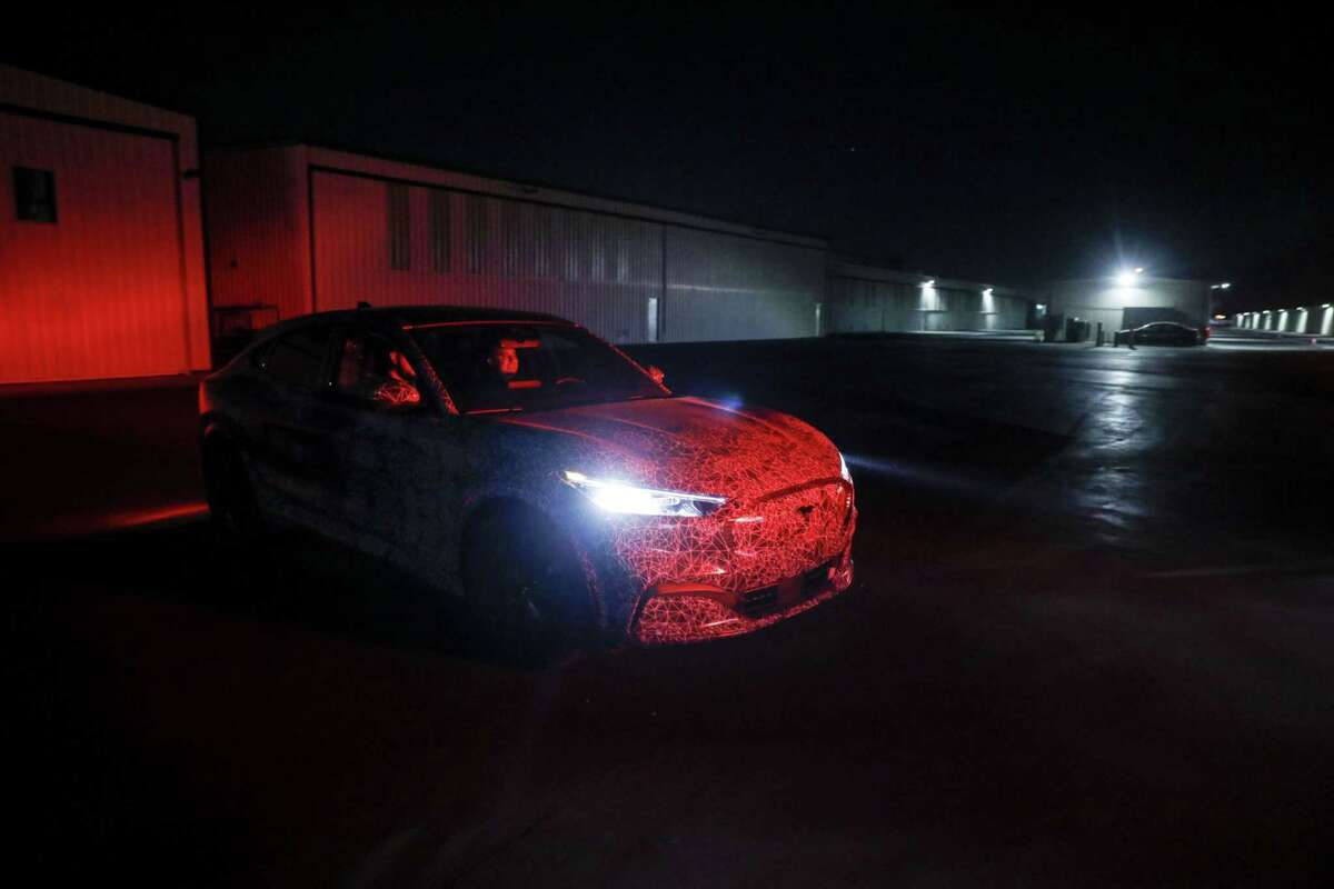 A prototype of Ford's Mustang Mach-E electric sport utility vehicle in Hawthorne, Calif., on Nov. 17, 2019.
