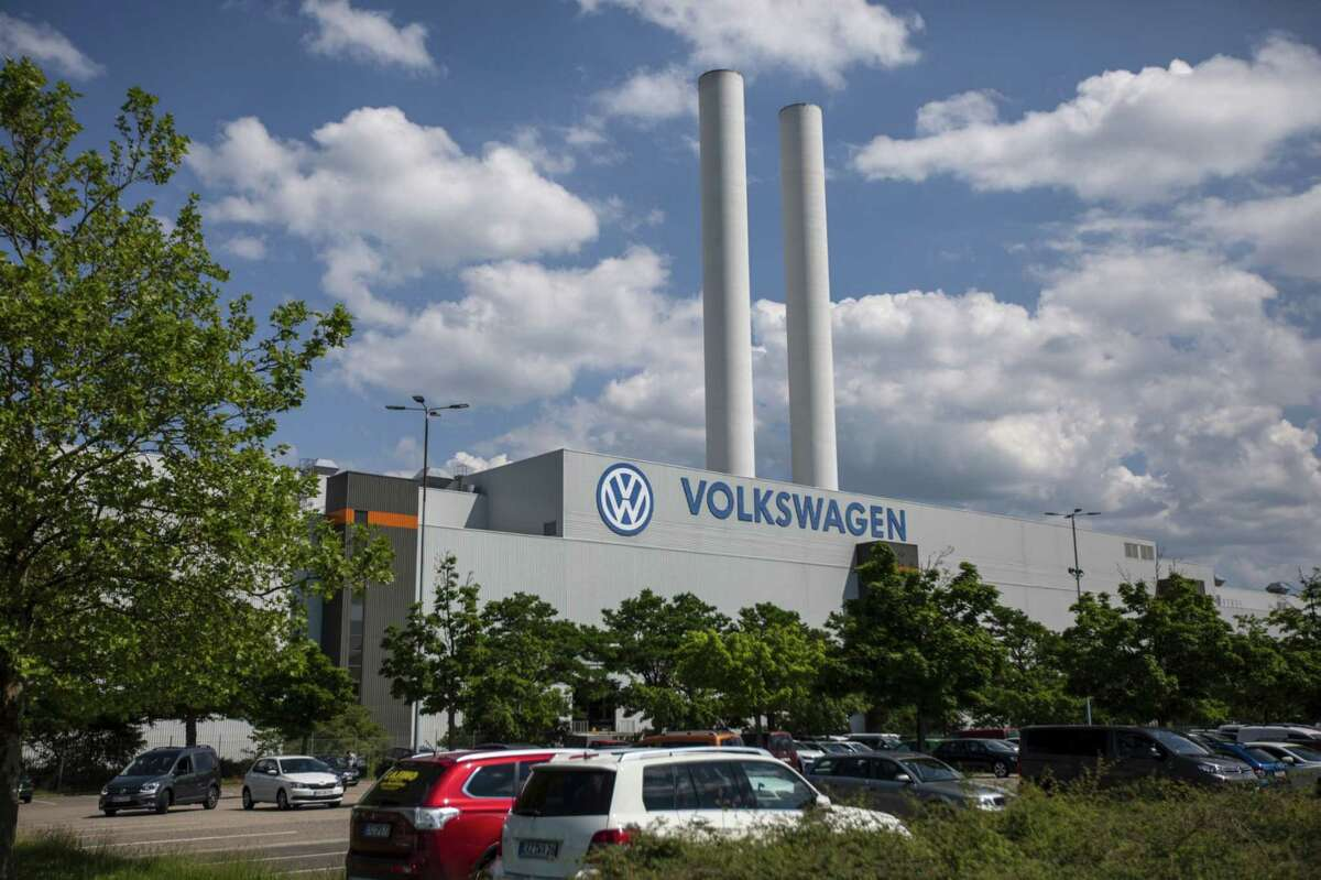 The Volkswagen automobile manufacturing plant stands in Zwickau, Germany, on June 17, 2019.