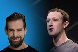 Jack Dorsey and Mark Zuckerberg have taken different approaches to President Trump's content on their platforms.