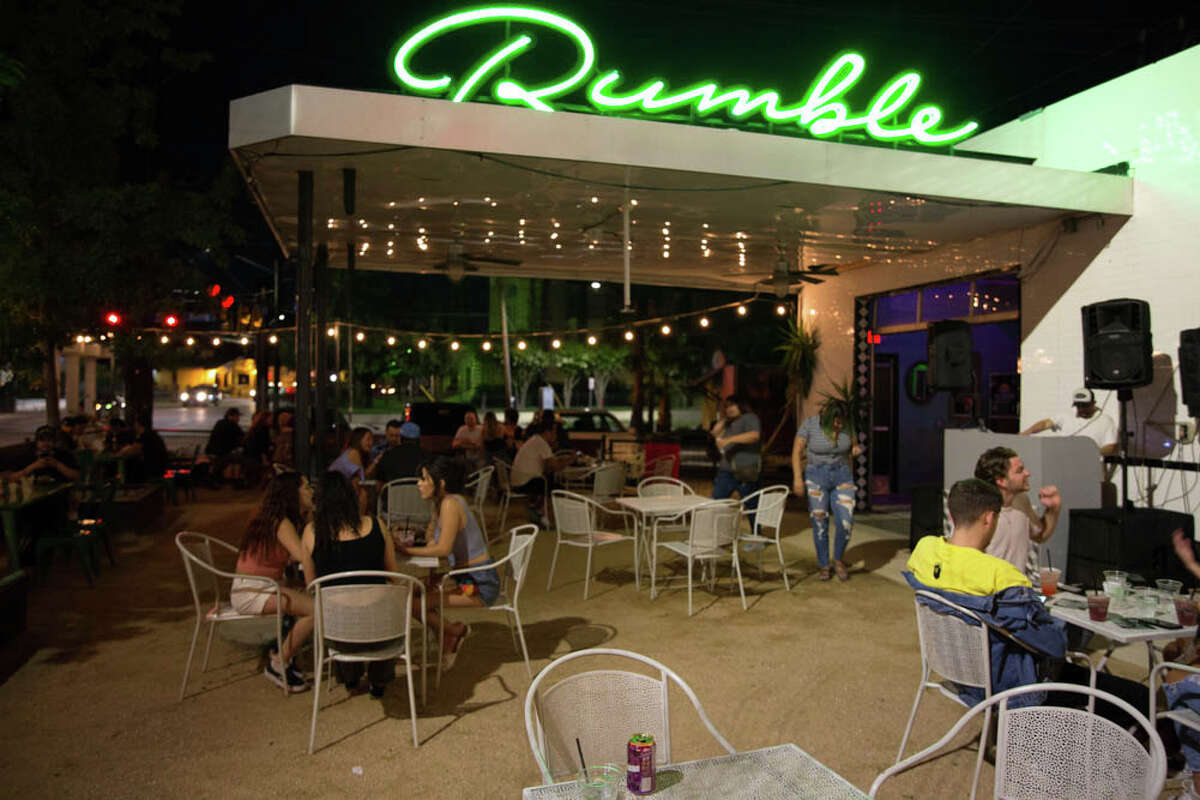 Dozens turned out for the reopening of Rumble on the St. Mary's strip during its weekend patio party on Friday, May 29, 2020.