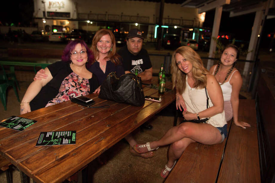 Dozens turned out for the reopening of Rumble on the St. Mary's strip during its weekend patio party on Friday, May 29, 2020. Photo: B. Kay Richter For MySA