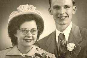 Wilma and Marion on their wedding day.