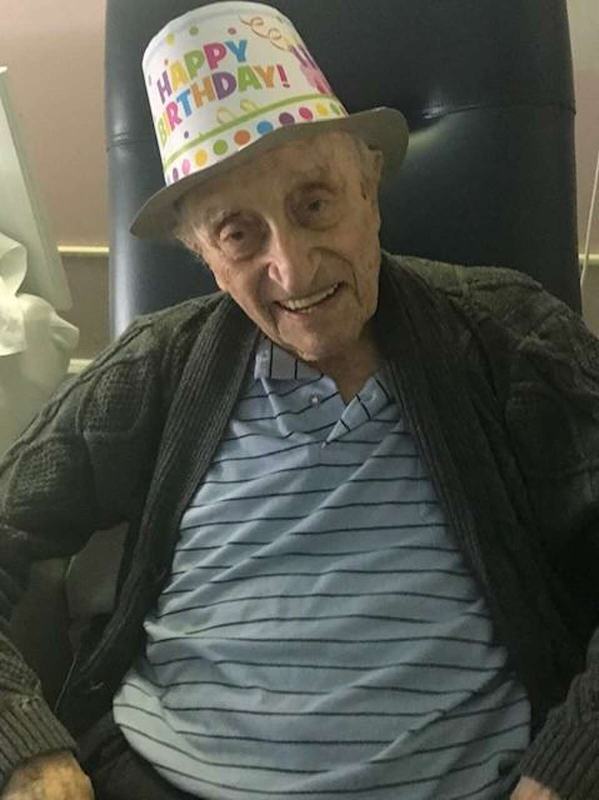 Angelo DeCaro, a resident of the Carolton long-term care facility in Fairfield, is turning 105-years old on Sunday. The longtime New Jersey resident recently beat COVID-19.