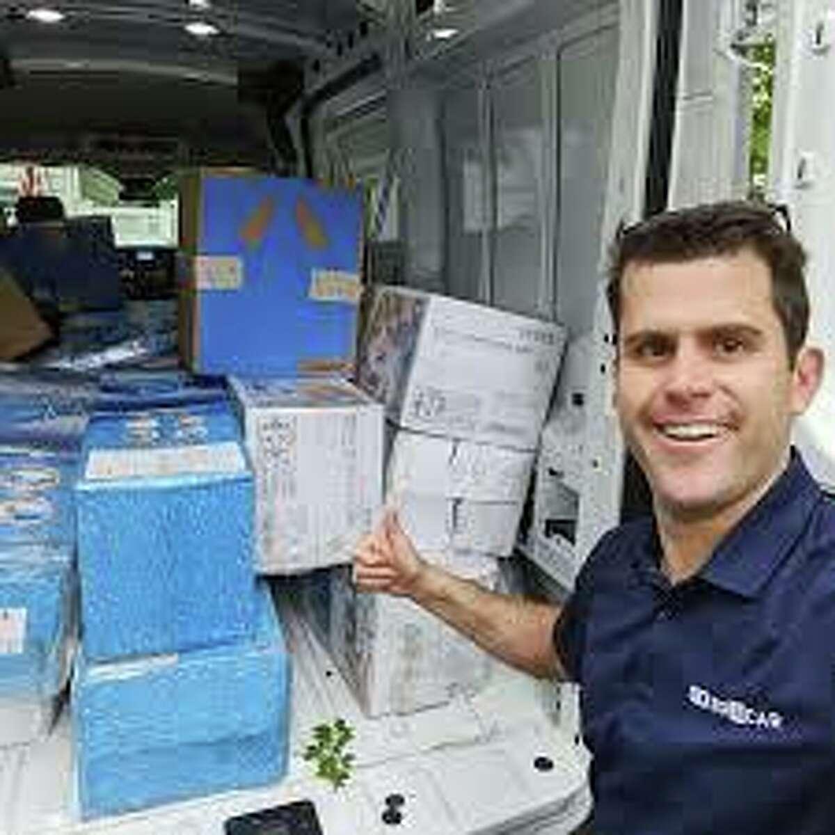 Boxcar CEO Joe Colangelo developed a contact-less food box drive-thru service.
