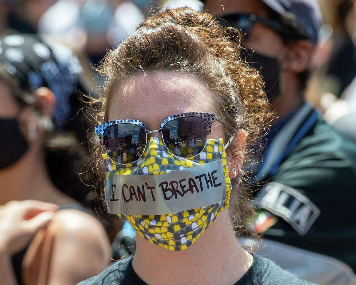 Protests are often crowded events. Help stop the spread of the coronavirus by always wearing a mask or face covering over your mouth and nose.