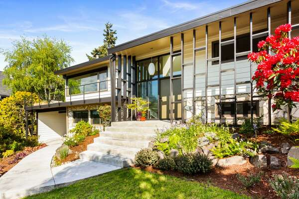 Mid-century with a timeless Seattle view and modern-day additions asks $1.150M.